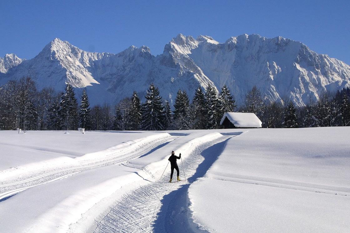 Winterurlaub in den Bergen_Karwende Alpen_Deutschlandl