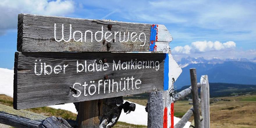 Wandern in Südtirol auf der Villanderer Alm
