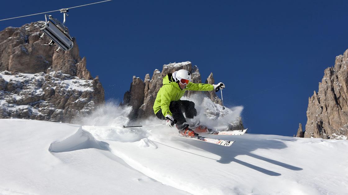 Skipisten in Südtirol_Pulverschnee