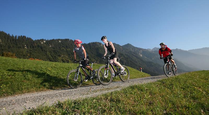 Mountainbiken und Radtouren Alpen