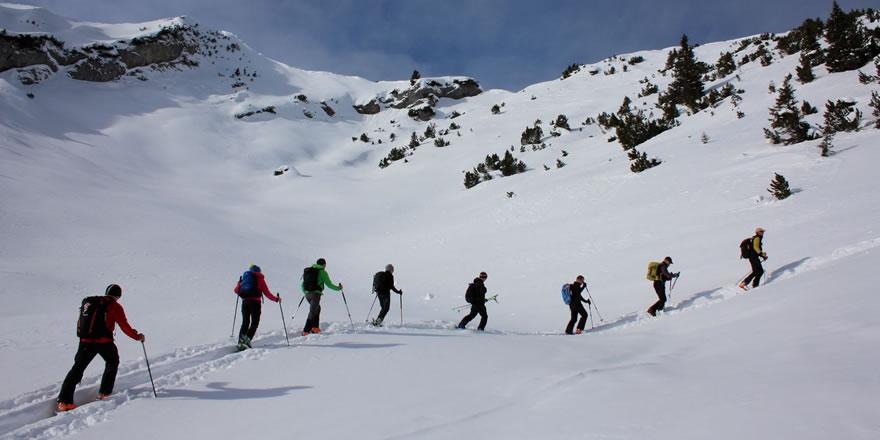 Schneeschuhwandern im Fürstentum Liechtenstein