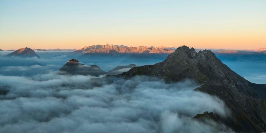 wandern liechtenstein Sonnenaufgang Naafkopf