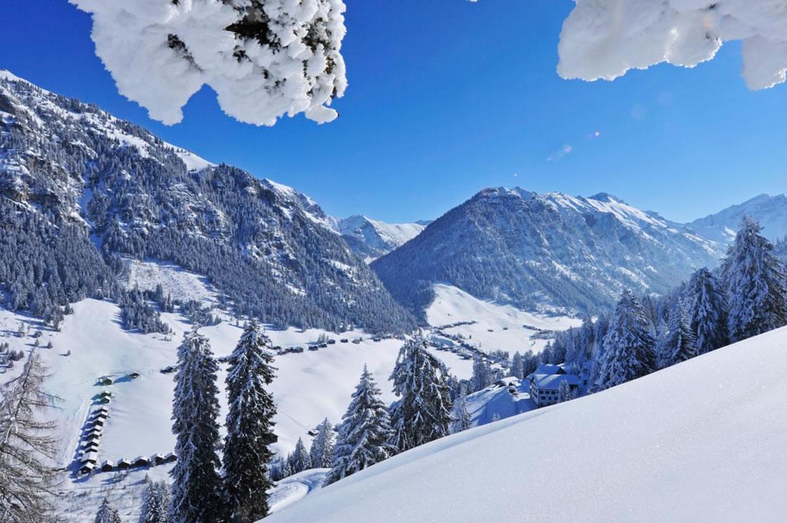 Alpen ruhige Winterwanderungen in Liechtenstein
