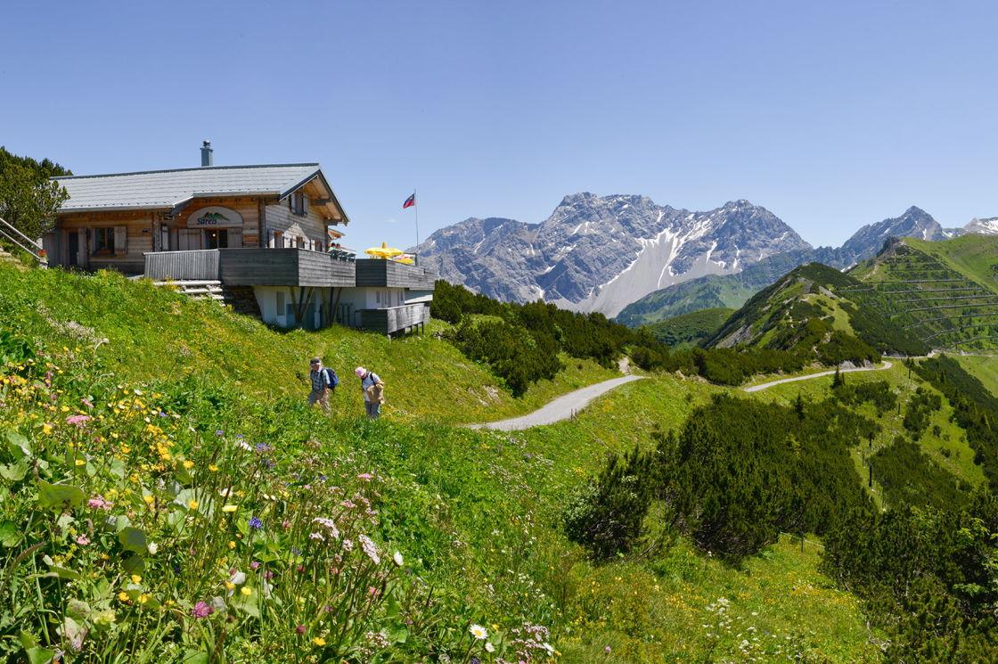 wandern Alpen, Fürstentum Liechtenstein