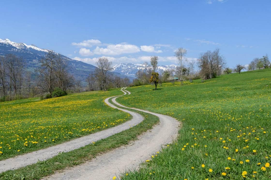 Wandern Alpen Liechtenstein