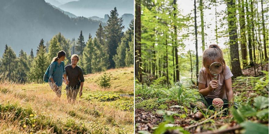 Wandern mit der Familie in die Natur