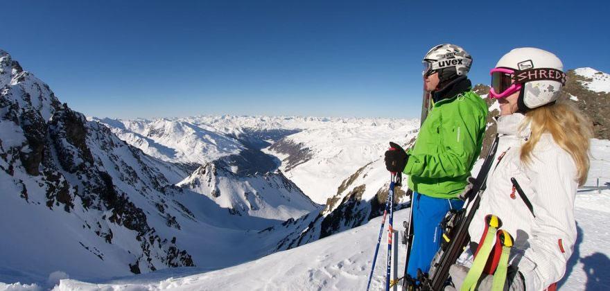 Skifahren Tirol Skigebiet Kaunertaler Gletscher