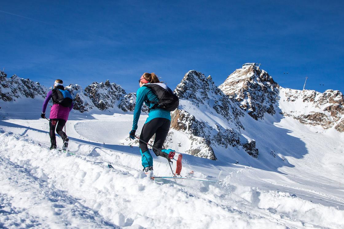 Skifahren Österreich Alpen, Pitztaler Gletscher