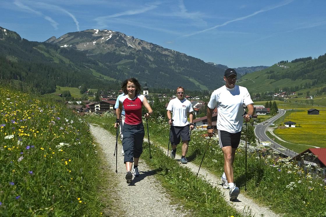 Nordic Walking Touren im Tannheimer Tal