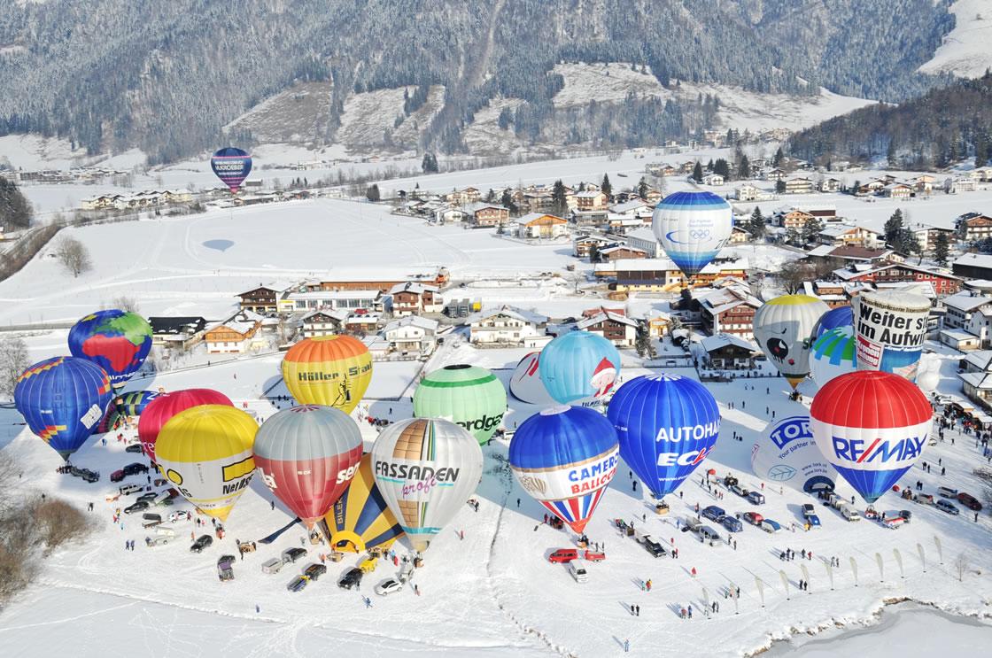 Ballonfahrertreffen Tirol Alpen Österreich