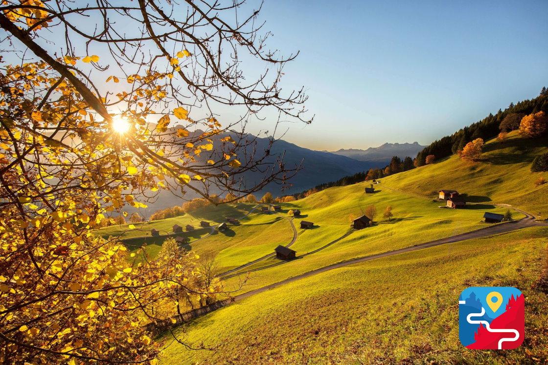 Herbsturlaub in den Bergen, Liechtenstein Weg