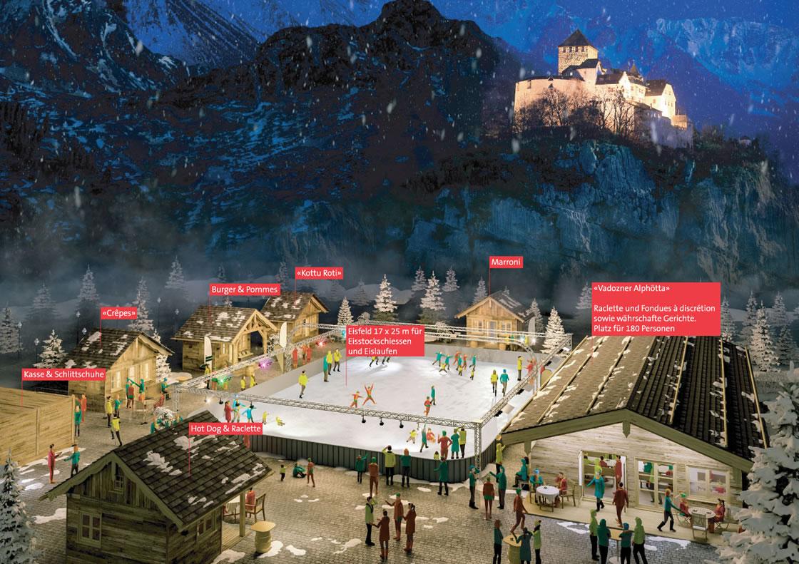 Eislaufen im Fürstentum Liechtenstein