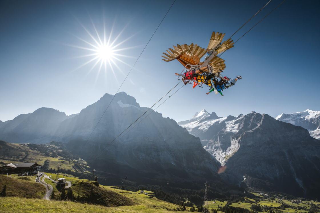 Alpen Erlebnis Grindelwald First Flieger