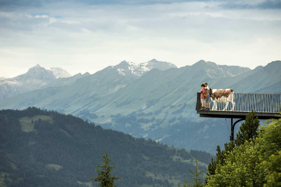 Alpen Erlebnis Aussichtsplattform Harder Kulms