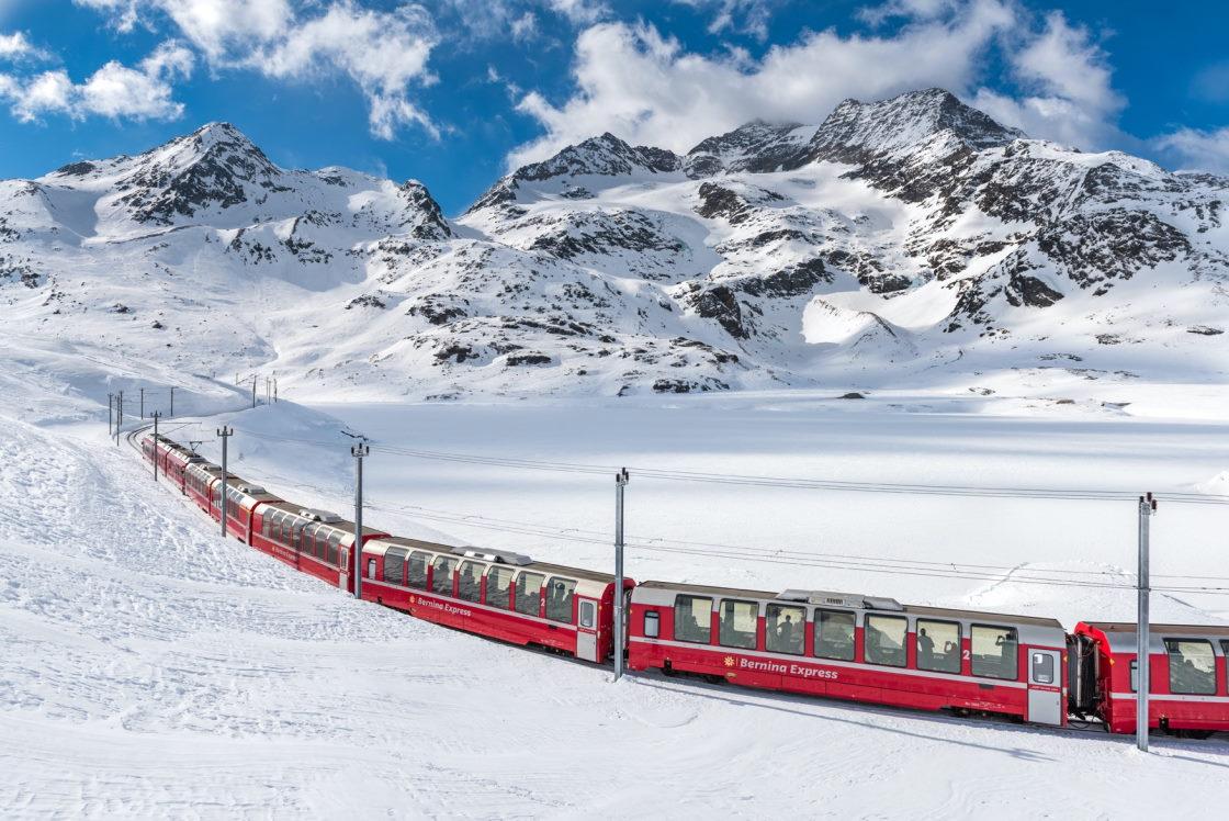 Bahnurlaub mit dem Bernina Express