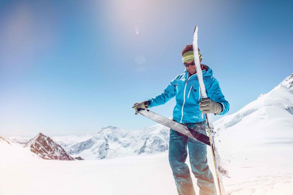 skifahren fruehling skigebiete schweiz