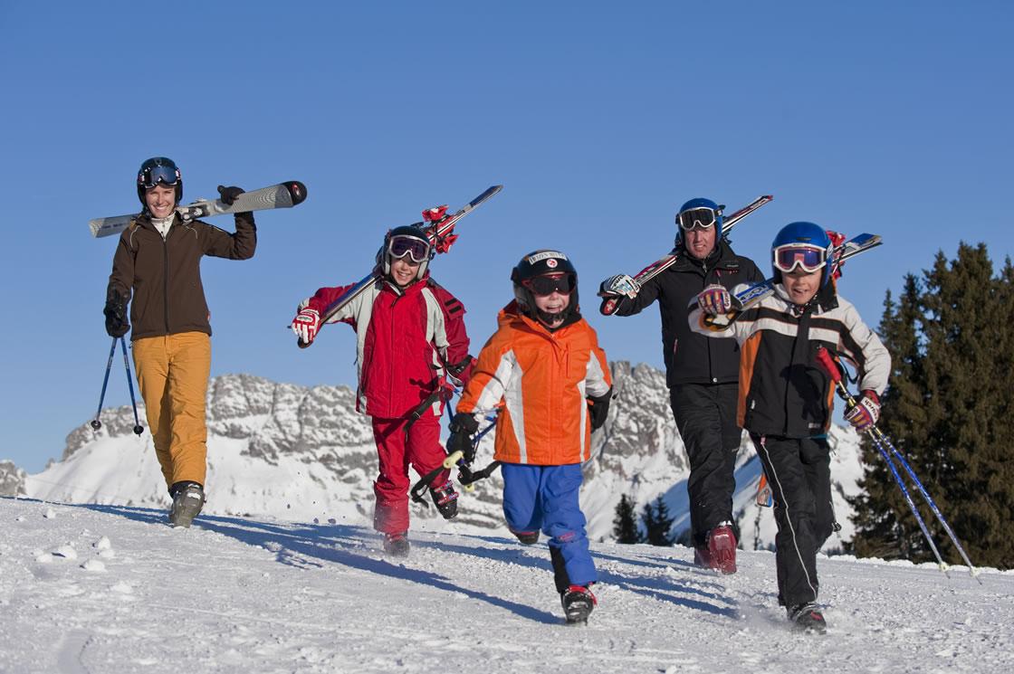 Famlien Skigebiet in der Schweiz