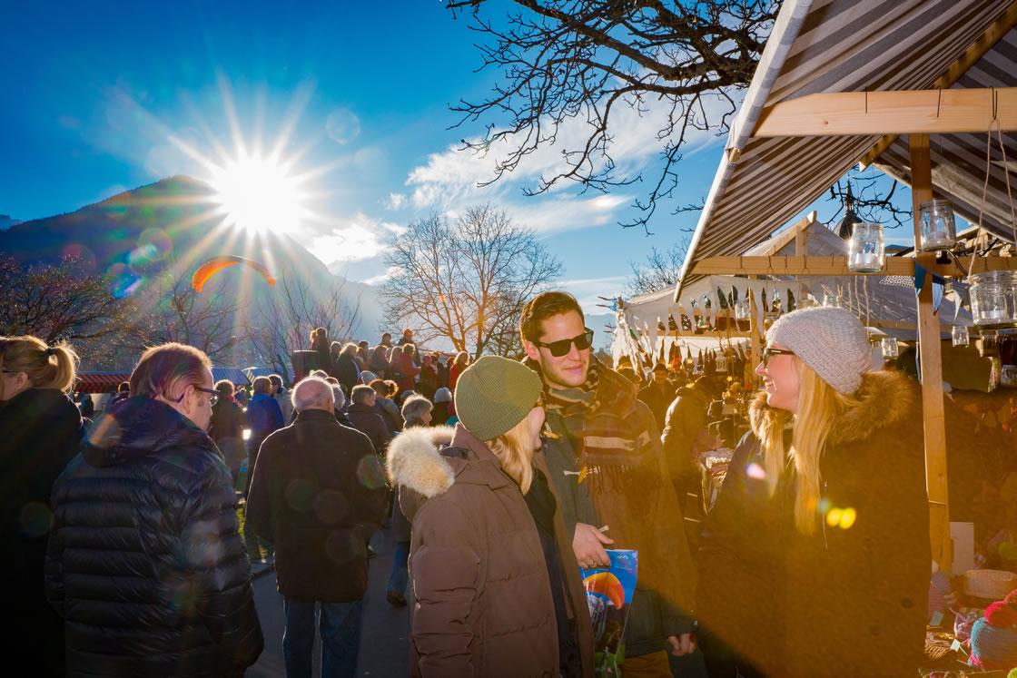 weihnachtsmarkt in der jungfrauregion