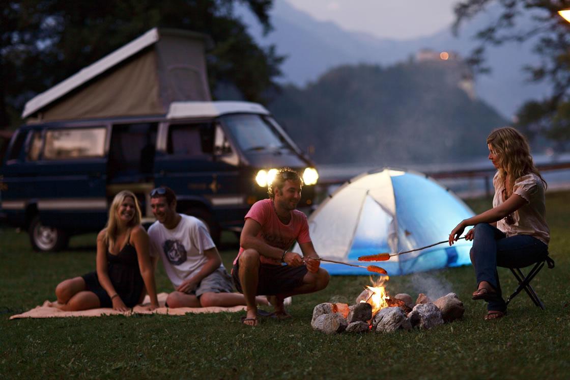 Camping in SlowenienZzelten in den Julischen alpen