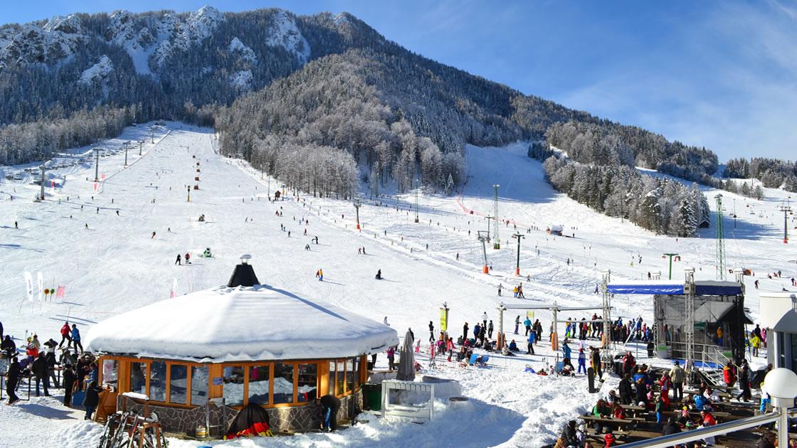 Skigebiet Kranjska Gora in den Julischen Alpen