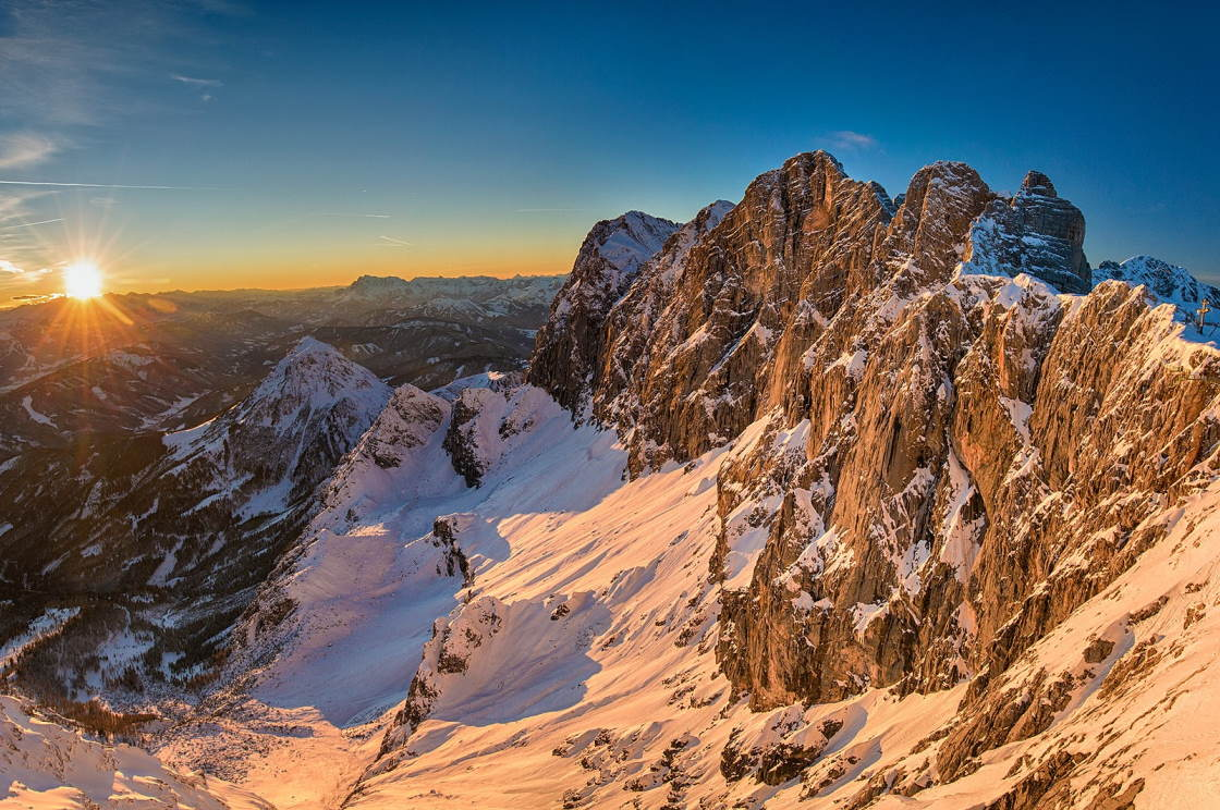 Sonnenuntergang am Dachstein