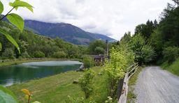 Urlaub in Südtirol, Vinschgau Fischteich Brugg